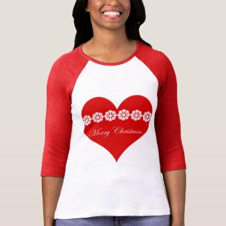 Camiseta corazón del nordic de las Felices Navidad