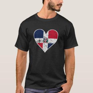 Camiseta Corazón dominicano apenado de la bandera