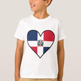 Camiseta Corazón dominicano de la bandera