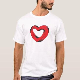 Camiseta corazón imposible torcido
