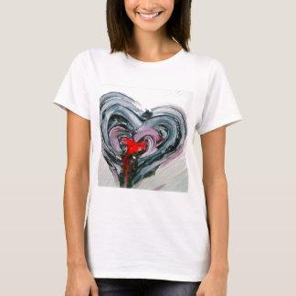 Camiseta Corazón negro y rojo T