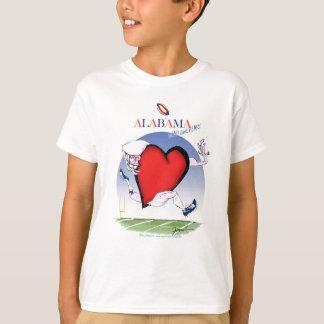 Camiseta corazón principal de Alabama, fernandes tony