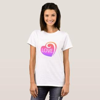 Camiseta Corazón rizado del amor