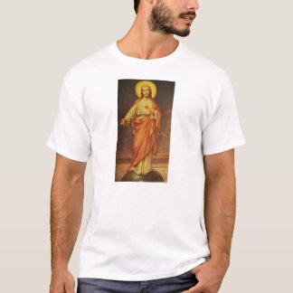 Camiseta Corazón sagrado de los años 50 del vintage de