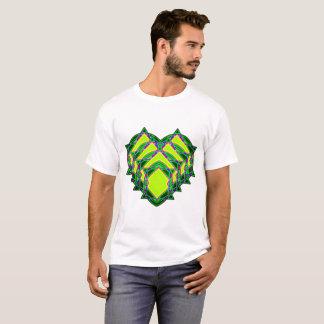 Camiseta Corazón verde abstracto