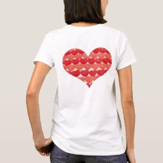 Camiseta Corazones del caramelo en una fila, en forma de