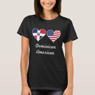 Camiseta Corazones dominicanos de la bandera americana