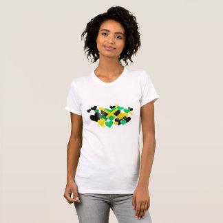 Camiseta - corazones jamaicanos