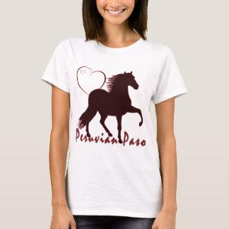 Camiseta Corazones peruanos del caballo de Paso