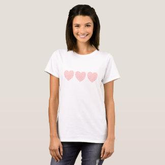 Camiseta Corazones rosados dentro del trío de los corazones