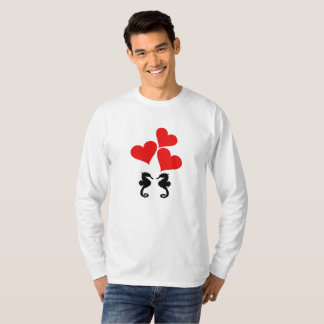 Camiseta Corazones y Seahorse