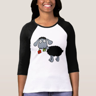 Camiseta Cordero de las ovejas negras con blanco gris de la