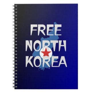 CAMISETA Corea del Norte libre Cuaderno