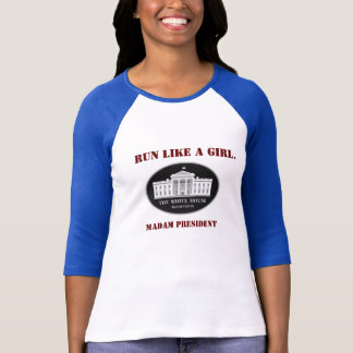 Camiseta Corra como una señora presidente del chica