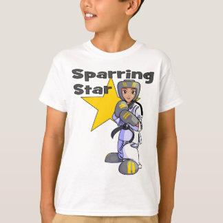 Camiseta Correa negra Sparring del Taekwondo de la estrella