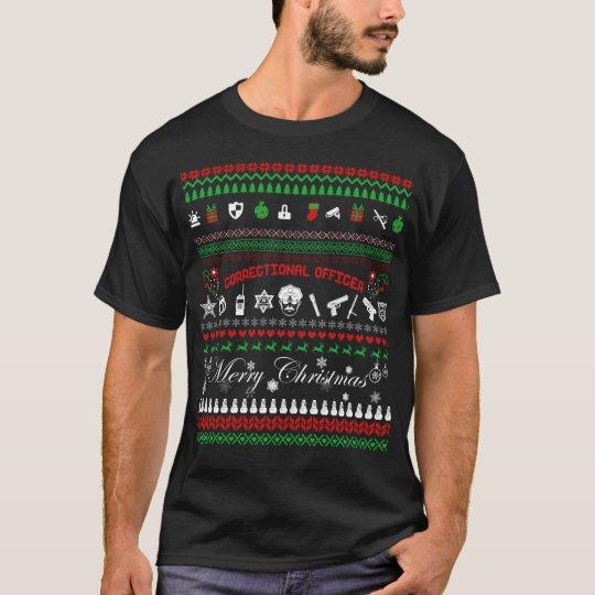 Camiseta correccional del navidad del oficial