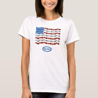 Camiseta Corredor patriótico (bandera de los E.E.U.U. con
