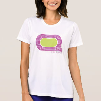 Camiseta corriente del competidor del Deporte-Tek