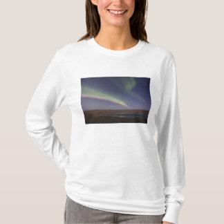 Camiseta Cortinas de la aurora boreal coloreada