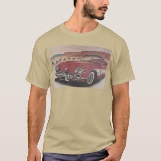 Camiseta Corvette clásico en la ruta 66