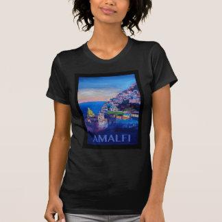 Camiseta Costa retra Italia de Amalfi del poster