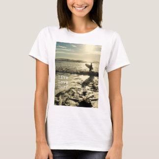 Camiseta costera de la cita del amor de las