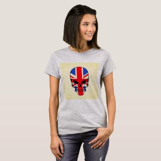 Camiseta Cráneo británico de la bandera