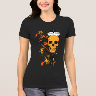 Camiseta Cráneo con grunge