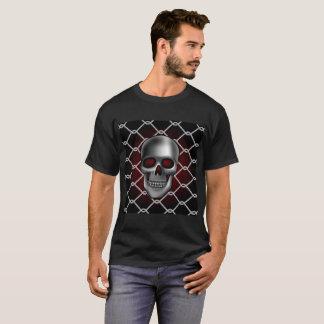 Camiseta Cráneo con la cerca de la alambrada