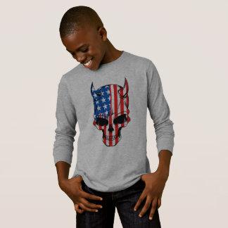 Camiseta Cráneo de la bandera americana