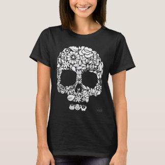 Camiseta Cráneo de la flor