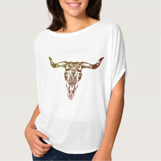 Camiseta cráneo de la vaca