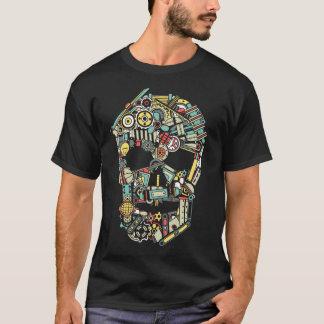 Camiseta Cráneo de piezas de maquinaria