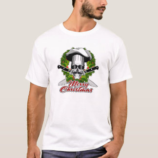 Camiseta Cráneo del cocinero: Felices Navidad