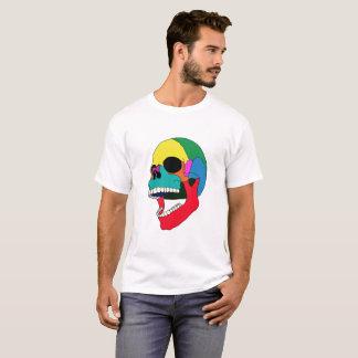 Camiseta Cráneo del color del estallido