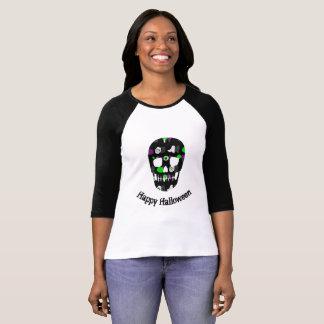 Camiseta Cráneo del feliz Halloween