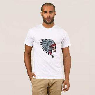 Camiseta cráneo del indio del boho