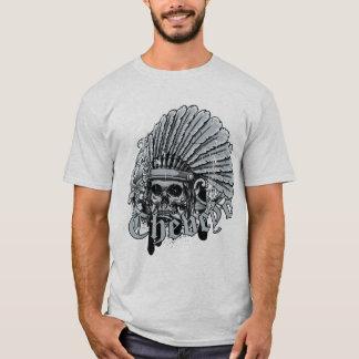 Camiseta Cráneo del jefe del nativo americano