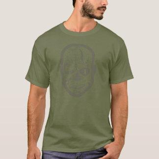 Camiseta Cráneo del mojón - verde caqui