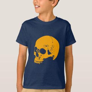 Camiseta Cráneo del vampiro del tono naranja
