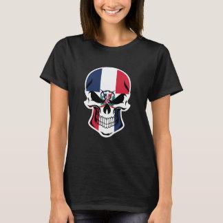 Camiseta Cráneo dominicano de la bandera