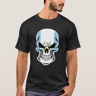 Camiseta Cráneo guatemalteco de la bandera