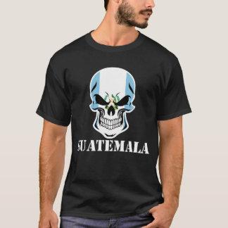 Camiseta Cráneo guatemalteco Guatemala de la bandera