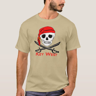 Camiseta Cráneo Key West del pirata