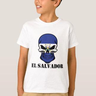 Camiseta Cráneo salvadoreño El Salvador de la bandera del