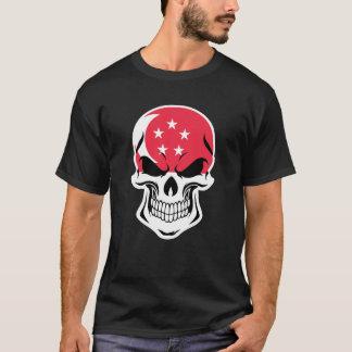 Camiseta Cráneo singapurense de la bandera