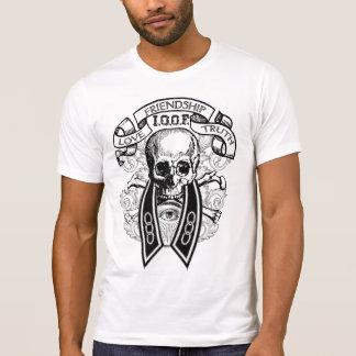 Camiseta Cráneo y cuello del FLT de las personas impares