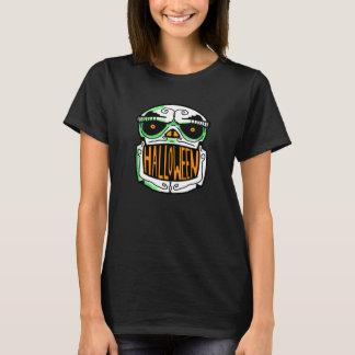 Camiseta CRÁNEO y FANTASMA de HALLOWEEN por Slipperywindow