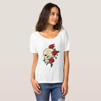 Camiseta Cráneo y rosas
