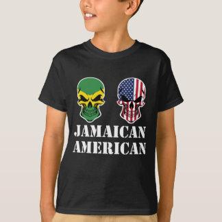 Camiseta Cráneos jamaicanos de la bandera americana
